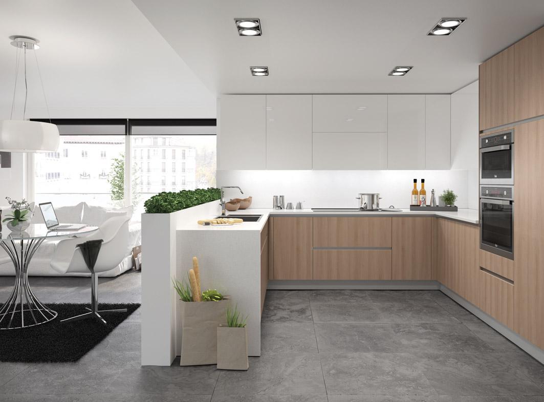 Claves para dise ar una cocina moderna y con estilo - Cocinas en forma de u pequenas ...